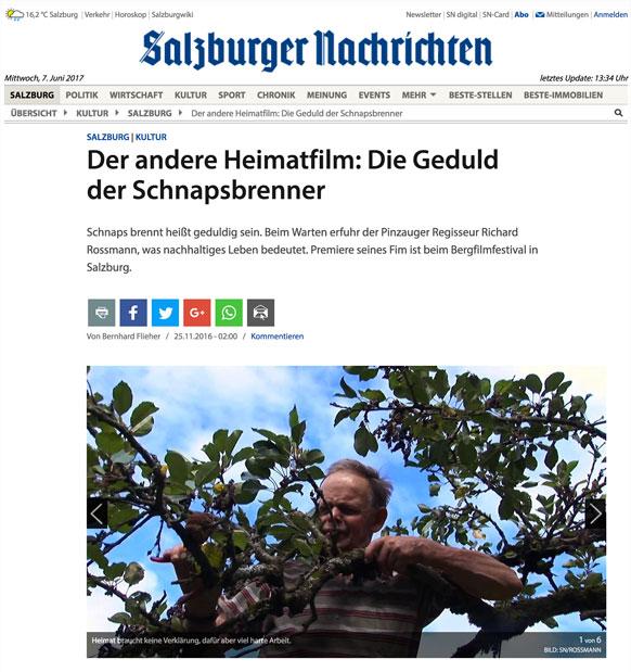 Ausriß Salzburger Nachrichten